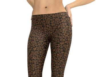 ef0b391039cf7 Leggings Coffee Bean Beans Leggings Capris Woman's Leggings Printed  Leggings Yoga Workout Exercise Pants Crazy Unique Legging Barista Pants