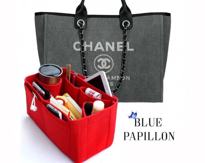 831db8ee81 Chanel bag organizer, Chanel Deauville Canvas Tote, chanel Bag Purse  Organizer, chanel bag