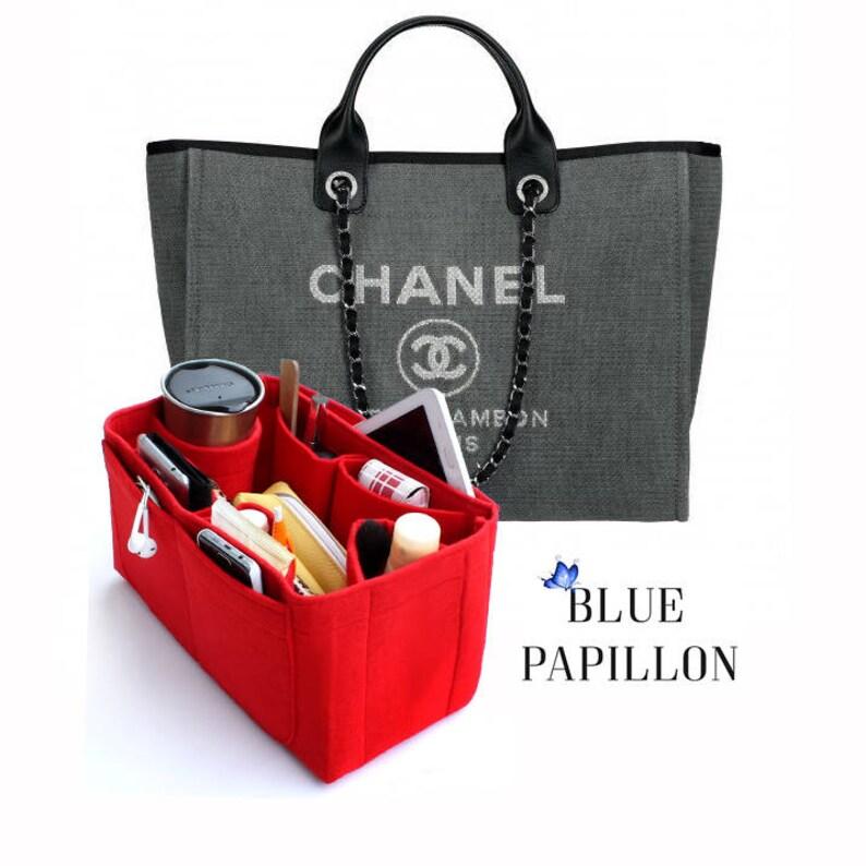 f55a2e366251 Chanel bag organizer Chanel Deauville Canvas Tote chanel Bag | Etsy