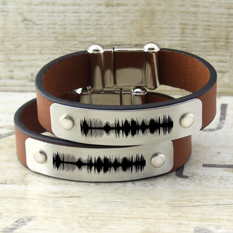 7a30233a35302 Couples Bracelets, Personalized Sound Wave Bracelet, Couples Jewelry, Men  Women Bracelet, His and Her Bracelet, Matching Bracelet, Gift Idea
