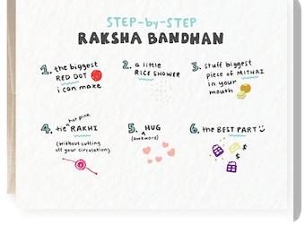 photograph about Raksha Bandhan Printable Cards titled Indian card Etsy