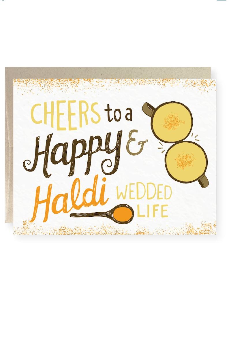 Desi Pyarful Pakistani Urdu South Asian Indian Wedding Congrats Best Wishes Hindi Indian card Indian Bride Haldi Doodh