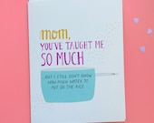Mom, How Do I make Rice? - Indian Mother's Day Card, Persian, Parsi, Pyarful, Ismaili, Indian, Pakistani, Desi, South Asian, Rice, Cooking