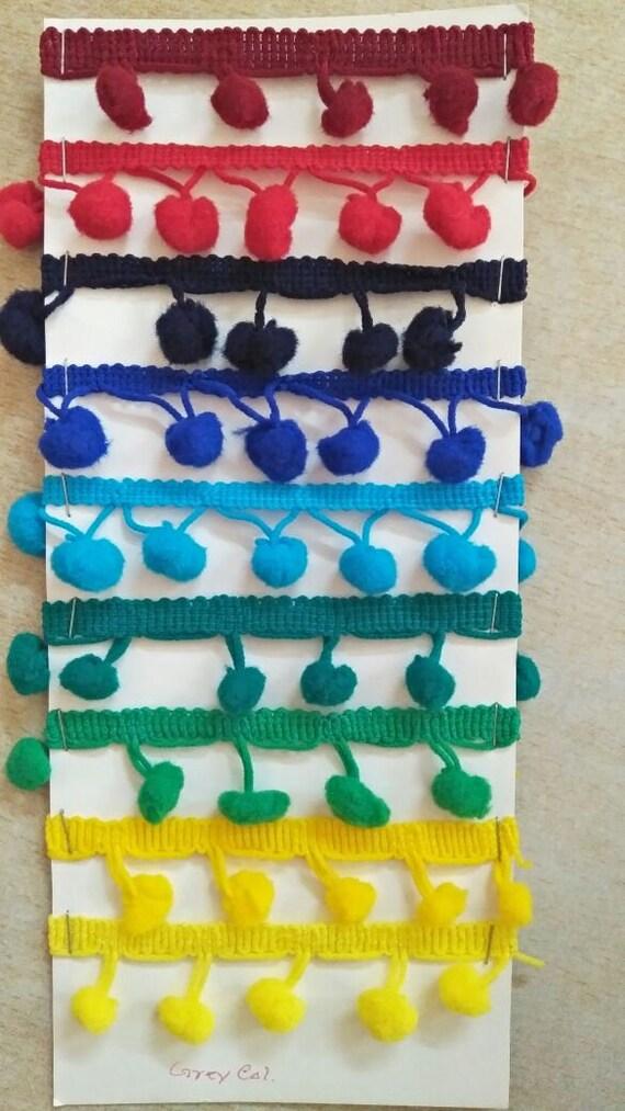 22 yd Fringe Pom Pom Trim Ribbon home decor upholstery | Etsy