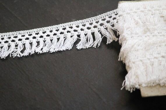 yard yard yard 52 coton Fringe garniture, blanc garniture, Non-dye, franges, vêtement accessoire, maison décoration, ameublement, quilting, couture, décoration, boho ba4b6a