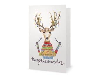 Merry Christmas, Deer. -Holiday Card