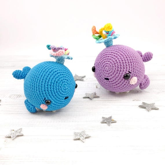 Baby Humpback Crochet Whale Free Pattern - One Dog Woof | 570x570