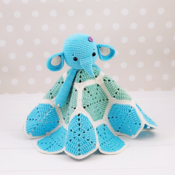 Elephant Lovey Pattern, Security Blanket, Crochet Elephant, PDF Crochet  Pattern, Elephant Blanket, Baby Lovey Toy, Elephant Pattern Crochet