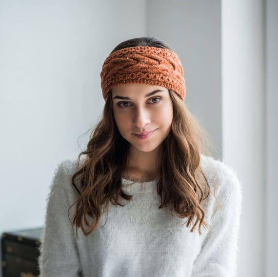 Ear Warmer Pattern Headband Pdf Pattern Cable Knit Headband Etsy