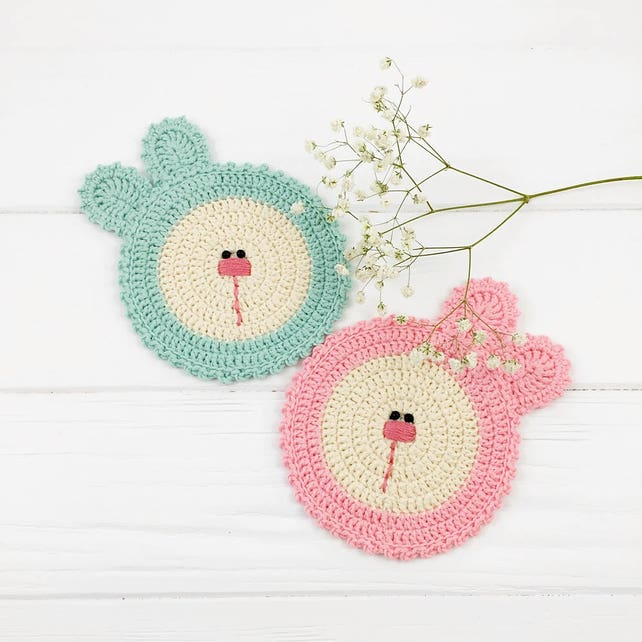 Coaster Pattern Crochet Pattern Crochet Doily Easy Crochet   Etsy