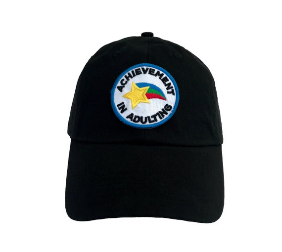 Achievement in Adulting Dad Hat Merit Badge Embroidered  439d545453c6