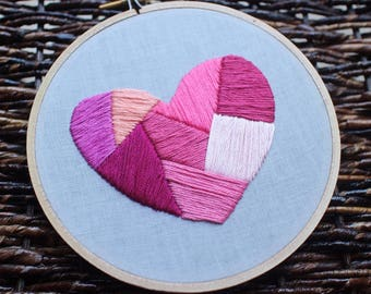 "5"" Pink Geometric Heart"