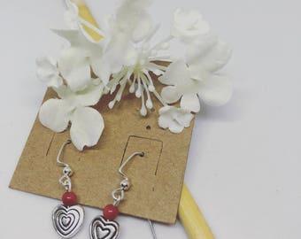 Bullseye valentine etsy bullseye heart earrings thecheapjerseys Choice Image
