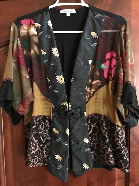 Vintage Hawaiian Spencer Alexis Kimono Jacket - si