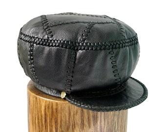 Jamaican Rasta Leather Crown / Rasta Leather Hat / Rastafarian Hat / Rasta Leather Cap / Hats for Dreadlocks  / (item 20M23-401) - Plaza876