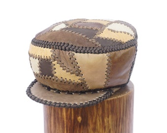 Prince Crown Leather Hand Crafted Rasta Crown - Hand Made Genuine Leather Rasta Hat for Medium Length Dreadlocks (item 506)