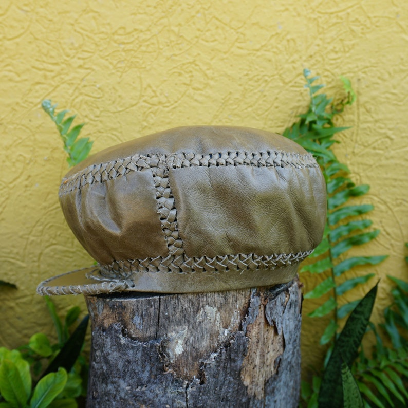 Small Rasta Leather Hat  Handmade in Jamaica item 268 image 0