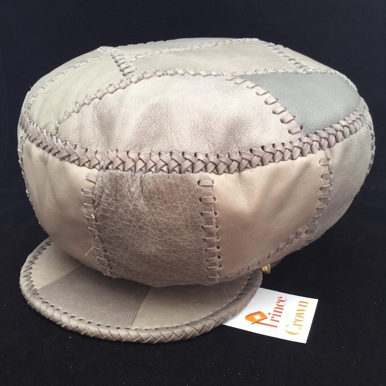 Rasta Leather Hat Leather Crown Black Uhuru Hat Protoje image 0