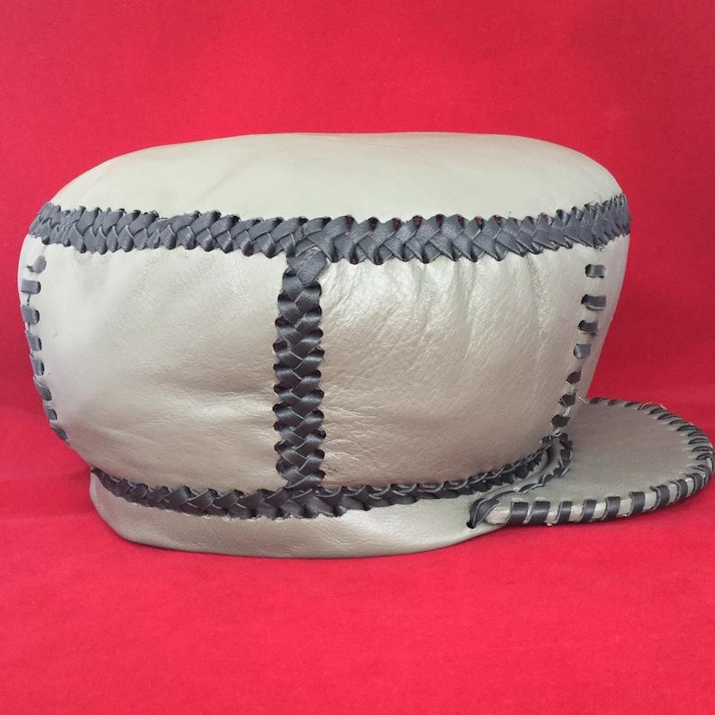 Leather Rasta Crown / Rasta Leather Hat / Earl Bagga Walker image 0