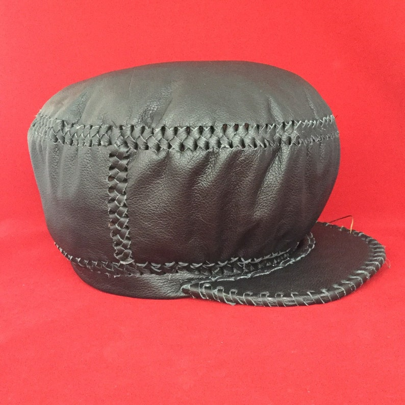 Leather Rasta Hat  Hand Crafted Leather Rasta Crown by Prince image 0