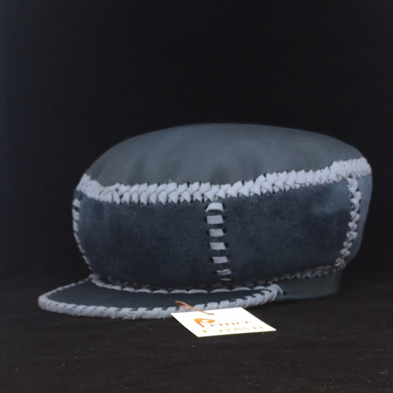 Rasta Leather Crown / Protoje Leather Hat / Hand Crafted from image 0