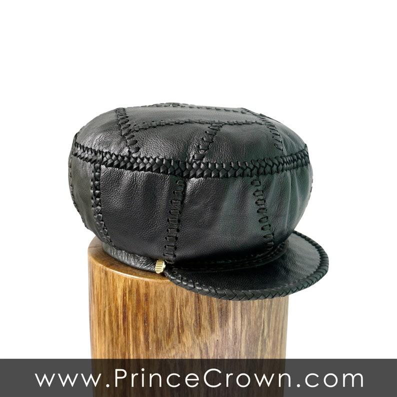 Jamaican Rasta Leather Crown / Rasta Leather Hat / Rastafarian image 0