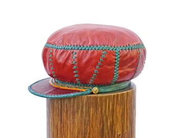 Classic Rasta Leather Crown - Handmade in Jamaica by Strength - Classic Series (item 488) - from Prince Crown - Plaza876