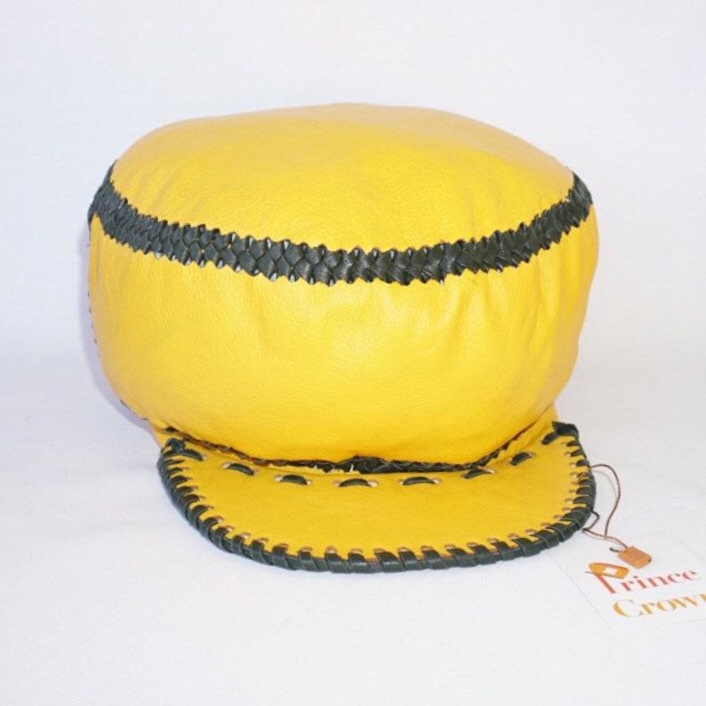 Rastaman Hat Dreadlocks Hat Reggae Hat Rasta Leather Tam image 0