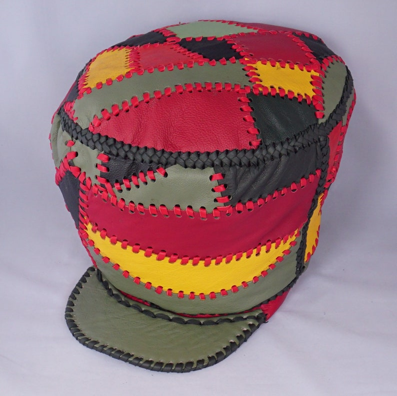 Leather Hand Crafted Rasta Crown  Prince Crown Leather Rasta image 0