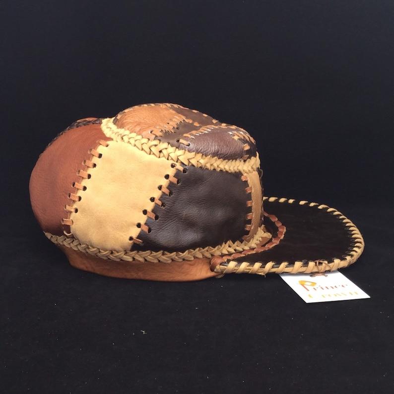 Rasta Hat Kepi Cap Civil War Cap Rebel Leather Hat Reggae image 0
