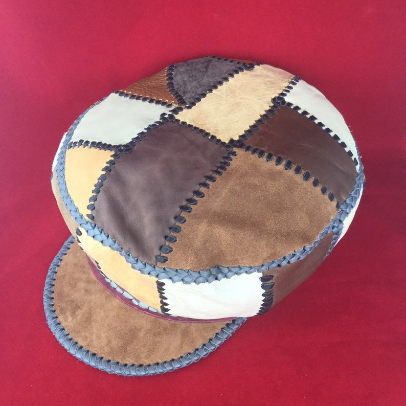 Protoje Leather Hat / Rasta leather Hat / Rasta Tam / Genuine image 0