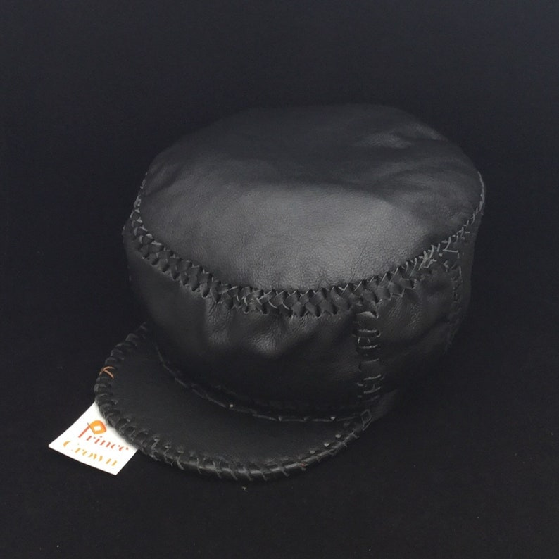 Leather Rasta Crown  Hand Crafted Leather Rasta Hat by Prince image 0