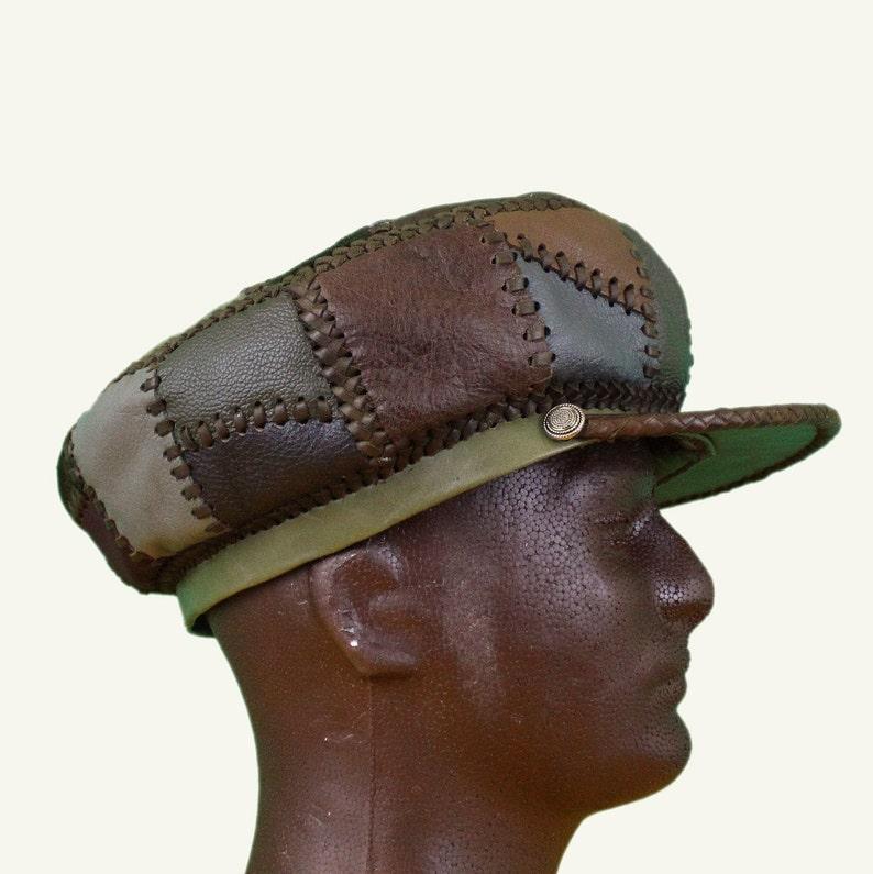 Rasta Leather Hat Protoje Leather Hat Dreadlocks Accessory image 0