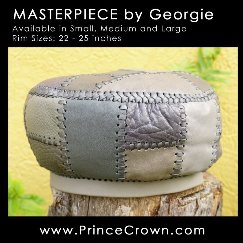 Rasta Leather Crown  Handmade in Jamaica by Georgie  image 0