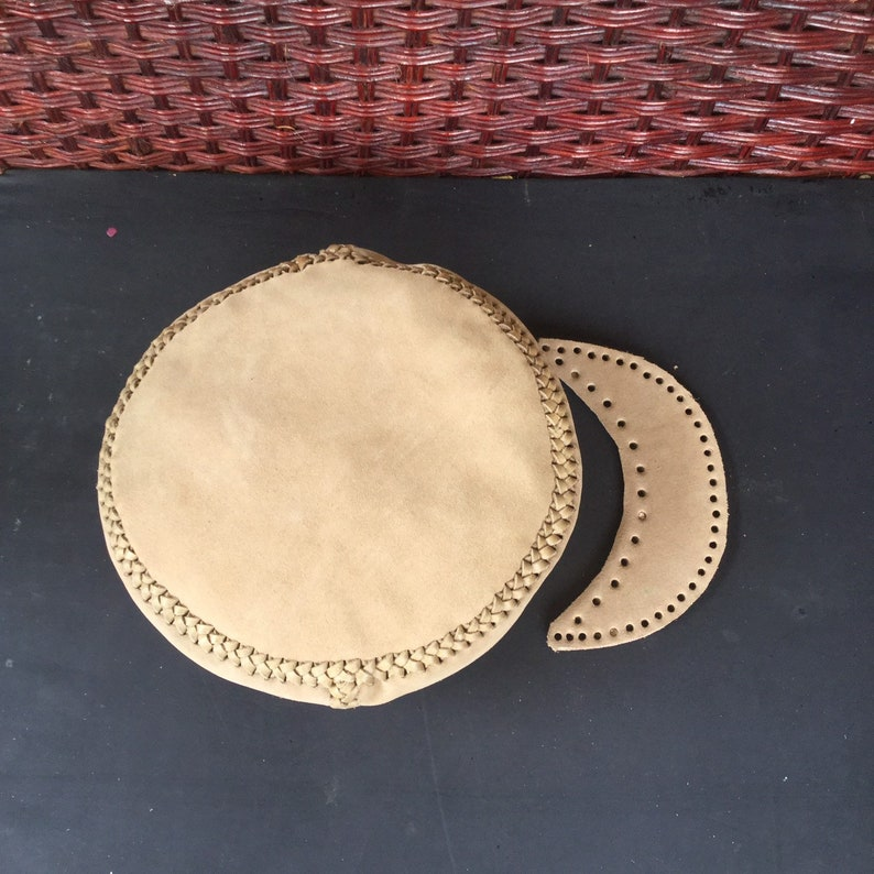 CUSTOM SIZE Rasta Leather Hat  Please choose your head size  image 0