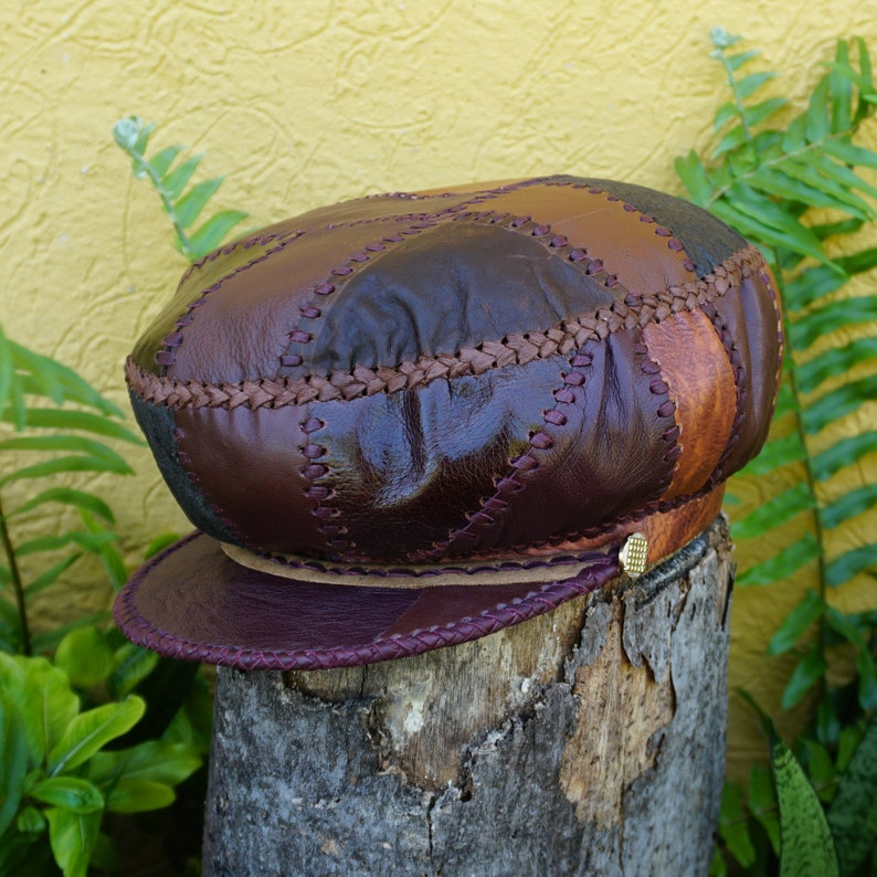 Rasta Leather Hat Protoje Leather Crown Rasta Crown from image 0