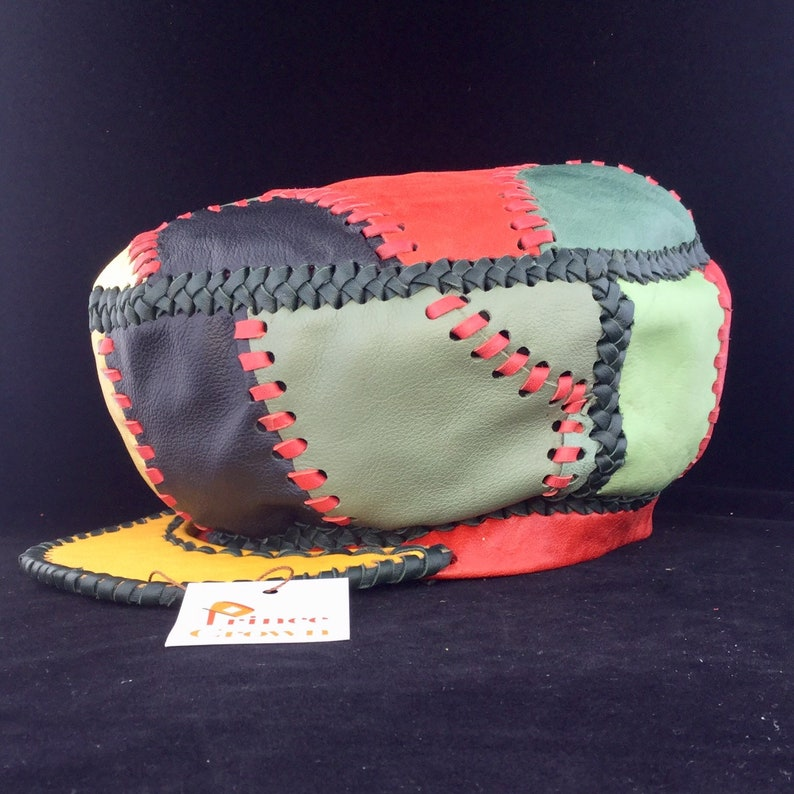 Hand Crafted Rasta Hat made from Genuine Designer Leather by image 0