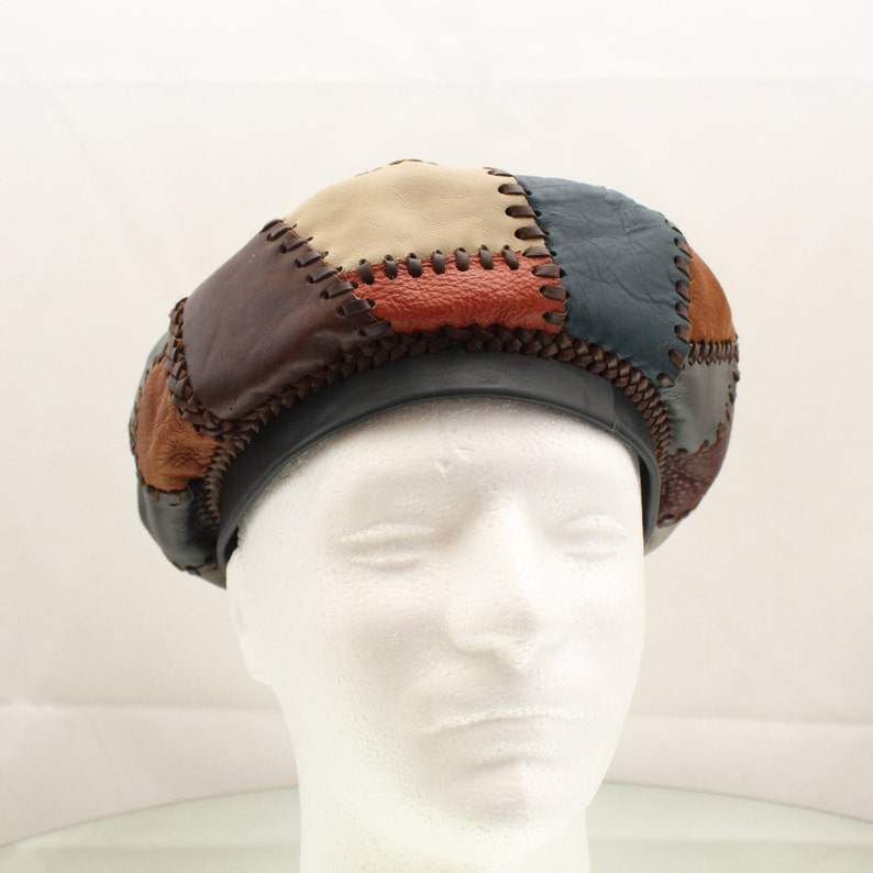 Leather Beret Rasta Leather Hat Protoje Leather Hat image 0