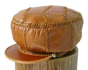 Rasta Leather Hat / Rastafarian Hat / Rasta Cap / Rasta Headwear / Rasta Leather Cap / Bob Marley Hat / Dread Hat / Hat for Dreadlocks (426)