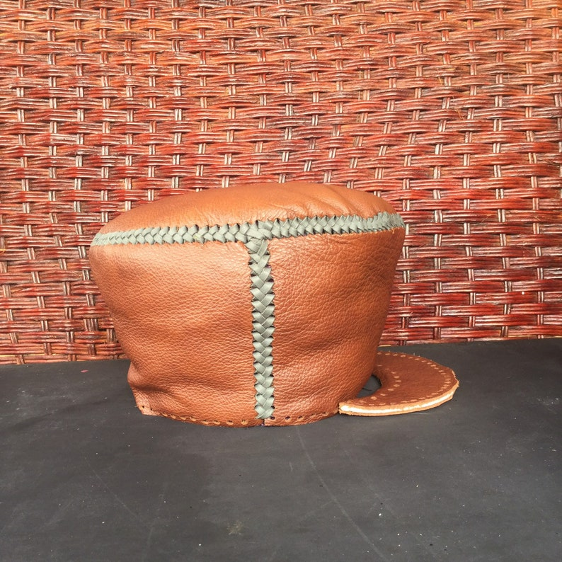 CUSTOM SIZE Rasta Leather Hat  Please choose your head size  image 0