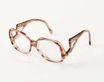d15b8a89fd Vintage Avant Garde Sunglasses - Art Deco Style Sloped Temples - Tortoise -  Unique Eyeglass Frames