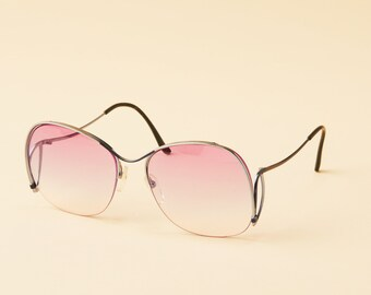 fe79d38495 Vintage Logo Paris Semi Rimless Frame - Huge Lenses - Unique Style - Sloped  Temples - Beautiful Detail - Made in France - Cazal Style