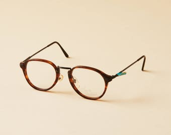 5694ca907ad4 Vintage Haute Couture Designer Eyeglasses - Hipster Style Eyeglasses Frame  - Trendy Glasses