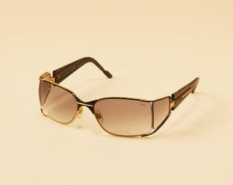 d5384f7085 Vintage Cazal Sunglasses - Ready To Wear - Vintage Cazal - Unique Sunglasses  - Gradient Lens - Black and Gold