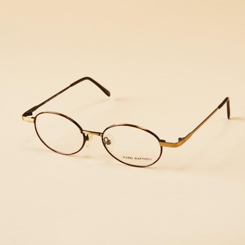 e3ea0b987e1d Vintage Mario Martinelli Eyeglass Frames 90s Round Glasses