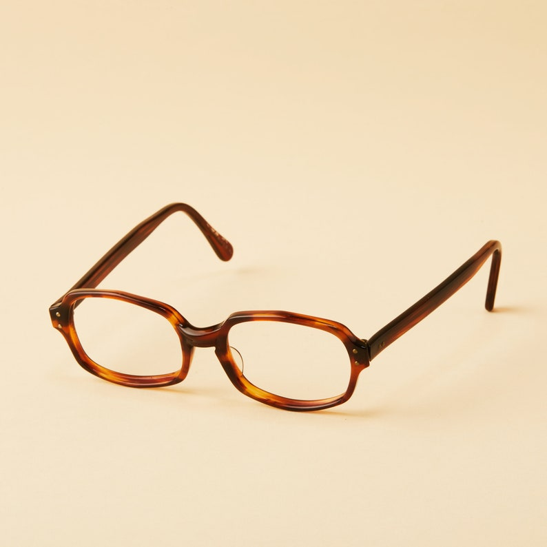 1960 Années Vintage Marron Hexagonal Plastique En American Optical Tortue 1970 Montures rxBedoWC