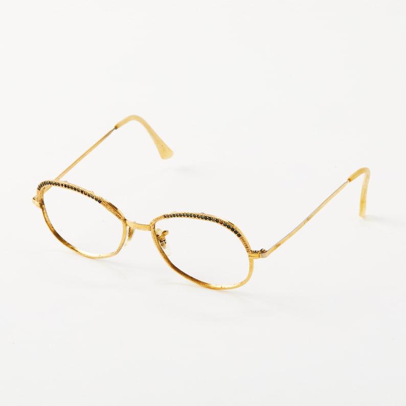 78ec0756bf24 Vintage Gemstone Encrusted Eye Glasses Frame / Vintage Shuron   Etsy