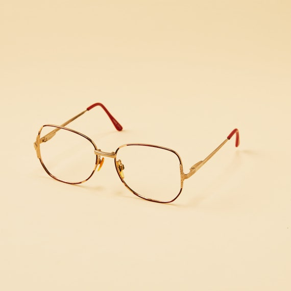 cce008a66711 ... Vintage Basic Image Womens Frame - Metal Eyeglass Frames - Tarnished  Red and Gold Finish -
