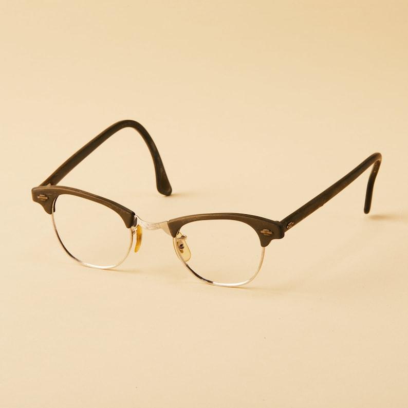 683f0d8318 Vintage Artcraft Eyeglass Frames Clubmaster Horn Rim 50s