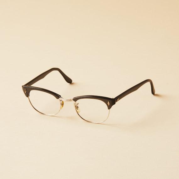 f0ef77a3084b Universal Optical Company Cat Eye Frames Clubmaster Horn | Etsy